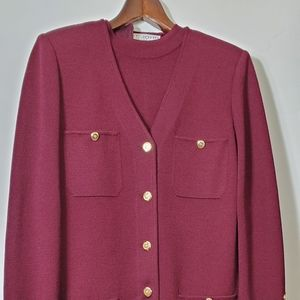 St John by Marie gray jacket and blouse
